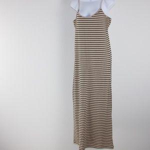 Tan/black long dress